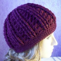 """Ribbed Hat - Finished Measurements: The circumference = about 19"""" for small, for large = about 22"""". When laying flat, the height for the small = about 7.5"""",   for   large = about 8"""".  If you need a deeper hat, you can always do more repeats of round 8."""