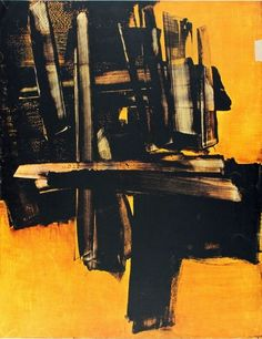 Painting July 1961 - Soulages, Pierre (French, 1919 - ) Fine Art Reproductions, Oil Painting Reproductions - Art for Sale at Galerie Dada Tachisme, Abstract Drawings, Abstract Canvas, Illustration Arte, Art Pierre, Franz Kline, Ouvrages D'art, Contemporary Abstract Art, Monochrom