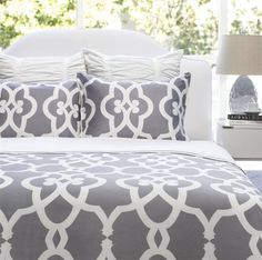 bold white bed