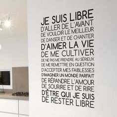 Textual content Sticker I m Free Positive Mind, Positive Attitude, Positive Vibes, Mantra, Burn Out, French Quotes, Visual Statements, Decir No, Decoration