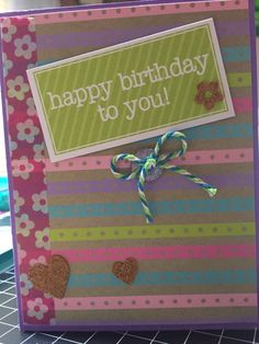 Happy Birthday card - Stamps of Life