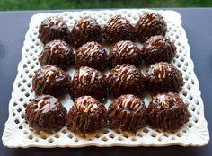 Chocolate Bunditinis with Dark and White Chocolate Glaze