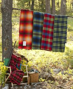 Woolrich blankets are a camp staple.