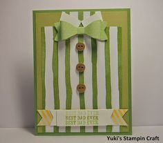 Father's Day card using Bow Builder Punch, Stampin' Up!