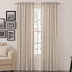 "Zipcode Design Kimber Curtain Panel Color: Chocolate, Size: 56"" W x 63"" L"
