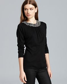 Magaschoni Embellished Pullover Sweater