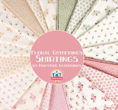 Floral Gatherings Shirtings by Primitive Gatherings for Moda Fabrics