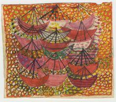 Ann Mari Forsberg, Painting for weaving Valdemarsskatten, skiss-detalj Textiles, Textile Prints, Tapestry Design, Textile Design, Retro Design, Graphic Design, Tapestry Weaving, Fabric Decor, Artists