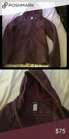 Patagonia better sweater with hood Unique & subtle patterned purple better sweater. It has only been worn a couple of times, super comfortable and warm just as you would expect from Patagonia. Patagonia Jackets & Coats