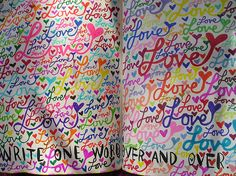 """""""Write one word over and over"""" page from Wreck this Journal  #wreckthisjournalsweeps @TeacherVision"""