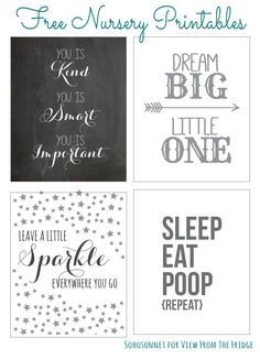 Embroidery inspiration...Set of 6 Different Ready to Frame Precious nursery art Printables !