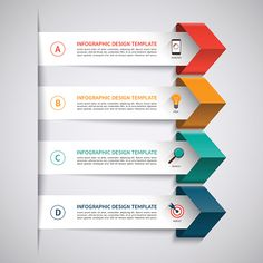 Infographic template with 4 options royalty-free stock vector art Infographic Powerpoint, Infographic Templates, Infographics Design, Free Web Design, Page Design, Powerpoint Design Templates, Adobe Illustrator Tutorials, Le Web, Presentation Design