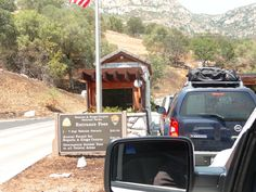 Arriving at the toll booth - Sequoia National Park