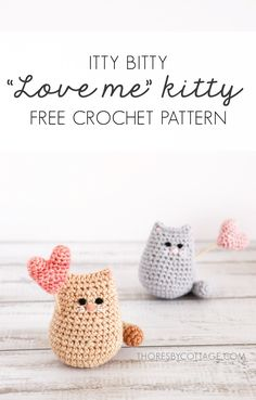 Crochet Cat Toys, Crochet Animal Amigurumi, Crochet Cat Pattern, Crochet Animal Patterns, Stuffed Animal Patterns, Cute Crochet, Amigurumi Patterns, Knitting Patterns, Small Crochet Gifts