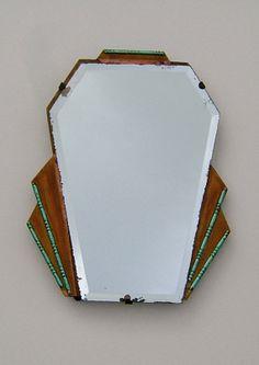 1930s Art Deco Dressing Table Mirror Vintage by BiminiCricket, $65.00