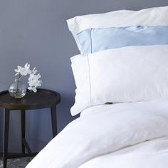Double duvet set- 1 fitted duvet cover and 2 pillow cases White - K Bamboo - Bamboo Bedding sets Duvet Sets, Duvet Cover Sets, Double Duvet Set, Good Night Sleep, Linens, Master Bedroom, Pillow Cases, Bamboo, Feather