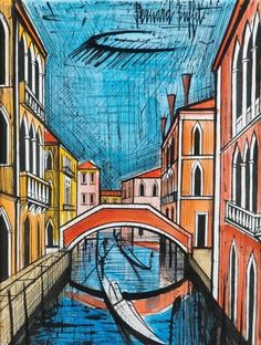 View Rio à Venise By Bernard Buffet; ink and watercolor paper; 64 x 48 cm; Access more artwork lots and estimated & realized auction prices on MutualArt. Drawing Scenery, London Pictures, Mont Saint Michel, Impressionism Art, French Artists, Beautiful Paintings, Great Artists, Art History, Artwork
