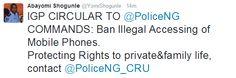 Hi! It's Hyrish Blog: Oh thank God! IG of police bans policemen from ill...