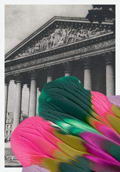 Painted postcards for Colette Paris by Leslie David