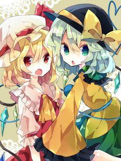 Koishi x Flandre Character Art, Character Design, Manga Cute, Anime Girl Drawings, Kawaii Anime Girl, Cute Images, Anime Characters, Chibi, Spring