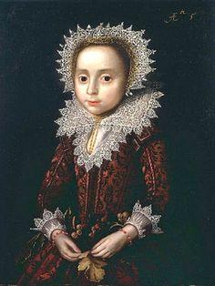 1586 Attr to Pieter Feddes Van Harlingen (Dutch artist, 1586-1634) Young Child