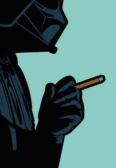 Dark Breath By Greg Guillemin from Secret Life of Super Heroes Series | 23 x 30 In Screen print| Darth Vader, Star Wars, comic, Pop art