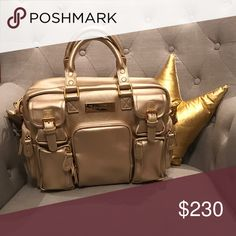 HOF Mini Blush Gold Evermore House of Flynn Gold Mini Evermore. EUC No rips, tears, or marks on the bag. House of Flynn Bags Totes