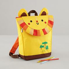 lion backpack designed by Michelle Romo.