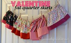 Valentine's Day skirt / outfit made from fat quarters from adornit.com