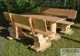 Sitzgruppe Sitzgarnitur Biergarten Gartenmöbel Gartenbank aus Holz Massiv