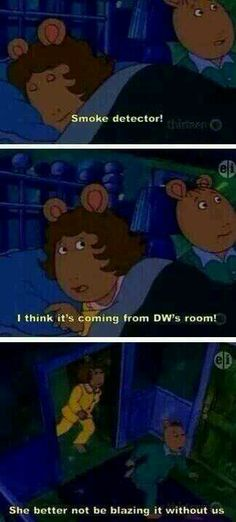 Lol hahaha funny comedy  Arthur children's show dw smoking weed