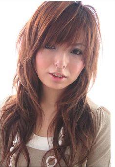 Fabulous Korean Hairstyles Bangs And Long Layered On Pinterest Short Hairstyles Gunalazisus