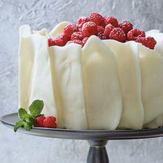Perfect Homemade White Cake w Almond Bark Garnish