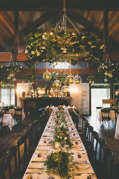 winter wedding tables cape - hanging winter wreath - glass bauble tea lights - rustic winter wedding