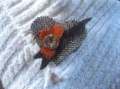 Harris Tweed Valentine heart brooch by KnitwitDesignsUK on Etsy, £15.00