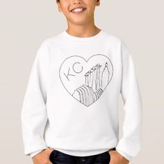 #simple - #Kansas City - Minimalist Line Art Skyline Heart Sweatshirt