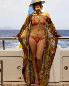Jenner Lopez in Valentino swimwear