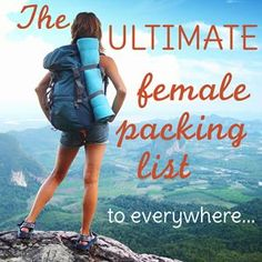 Packing lists for countries, seasons, activities, study abroad, and more. For the female traveler.