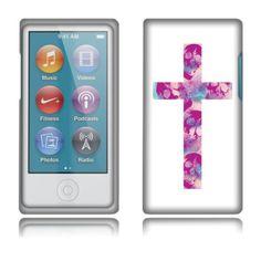 Fincibo (TM) Apple iPod Nano 7 (7th Generation) Premium Hard Plastic Snap On Protector Cover Case - Cross, Front And Back Fincibo