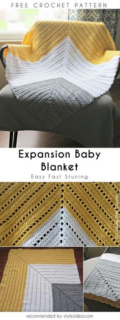 Expansion Baby Blanket Free Crochet Pattern #crochet #babyblanket