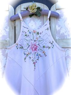 Fresh Summer Crisp Cutwork and Embroidered Summer Shift by IzzyRoo on Etsy