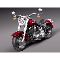 Harley-Davidson Fat Boy 2015 - 3D Model