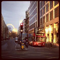 Beautiful but windy sunset in #London !