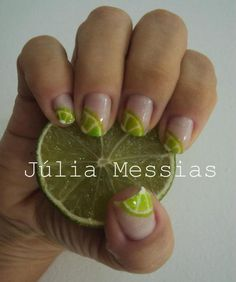 "summer nails. Lime squeeze nails?!?  Yes please!!!  But maybe just one ""party nail"" for me. ;)"