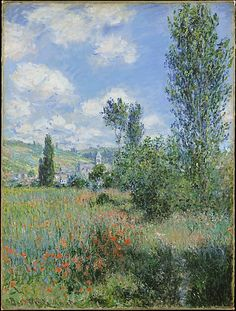 Claude Monet (French, 1840–1926). View of Vétheuil, 1880. The Metropolitan Museum of Art, New York. Bequest of Julia W. Emmons, 1956 (56.135.1) | During summer 1880, Monet painted twenty-six views of the area around the village of Vétheuil.