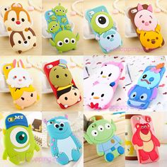 New Cute 3D Cartoon Disney Silicone Rubber Soft Case Cover for iPhone 6 Plus 5S