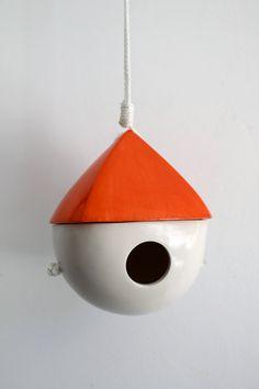 Two Tone Porcelain Birdhouse by LandMstudio