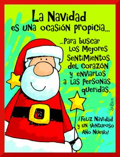 "Un abrazo"" Merry Christmas And Happy New Year, Christmas Time, Christmas Cards, Christmas Decorations, Merry Xmas, Christmas Stuff, Christmas Quotes, Christmas Pictures, Mrs Claus"
