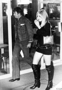 Brigitte Bardot Celebrity Boots, Brigitte Bardot, Thigh High Boots, Thigh Highs, Fashion Boots, Leather Skirt, Punk, Ballet, My Style