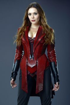 AVENGERS: AGE OF ULTRON Portraits Reveal The Stunning Final Costume For Elizabeth Olsen's Scarlet Witch